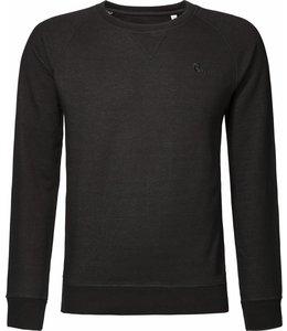 BETTER.. Clothing Pullover aus Schwarzer Denim Biobaumwolle