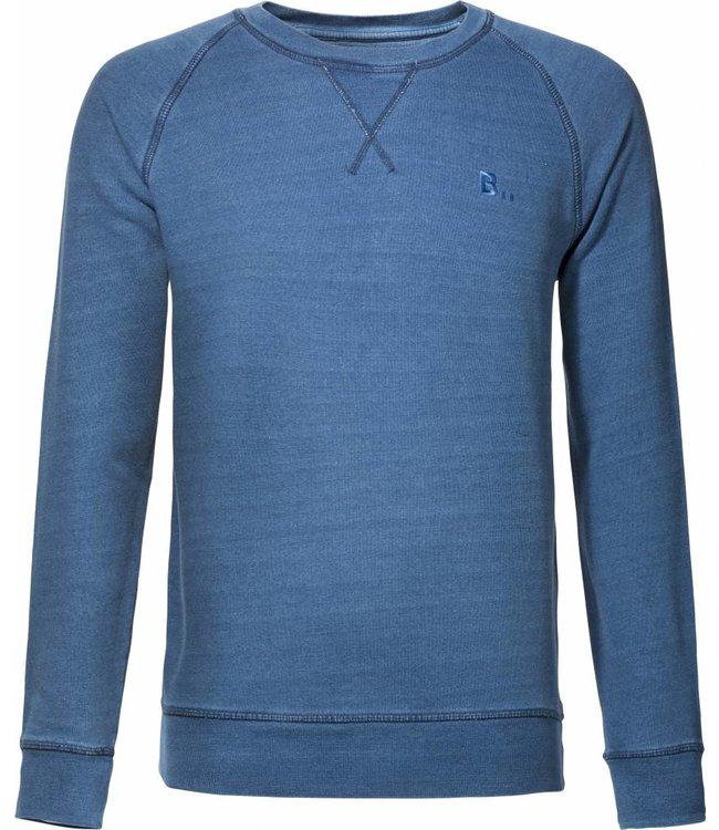 BETTER.. Clothing Indigo washed, biologisch katoenen trui