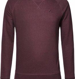 BETTER.. Clothing Aubergine-donkerrode, biologisch katoenen trui