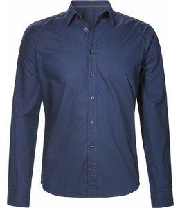 Navy blauw overhemd van biologisch katoen