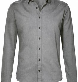 BETTER.. Clothing Grijs slimfit, biologisch katoenen overhemd