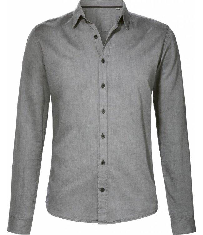 BETTER.. Clothing Graues Oberhemd aus Bio-Baumwolle, Slim Fit
