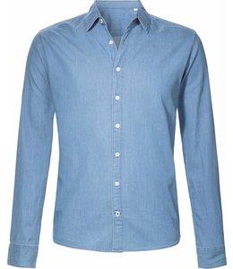 Slimfit overhemd van lichtblauwe spijkerstof
