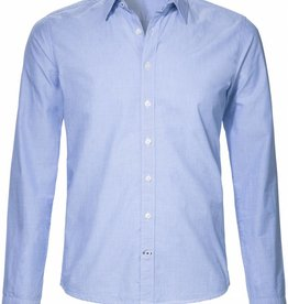 BETTER.. Clothing Blauw fil-a-fil, slimfit overhemd