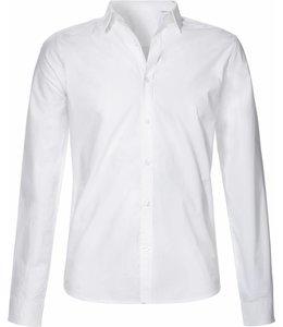 Wit biologisch katoenen overhemd
