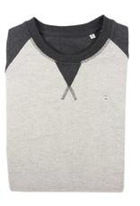 BETTER.. Clothing Trui in grijs en offwhite van biologisch katoen