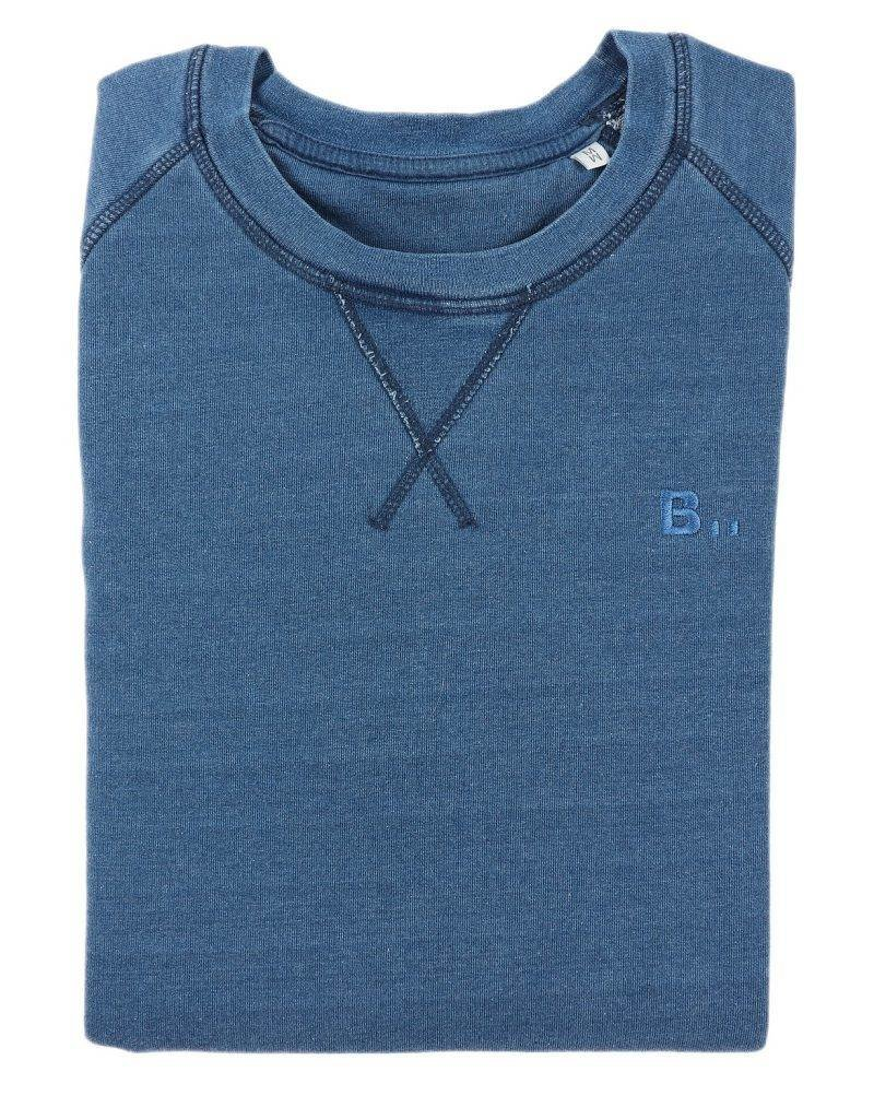 BETTER.. Clothing Indigo washed, biologisch katoenen trui
