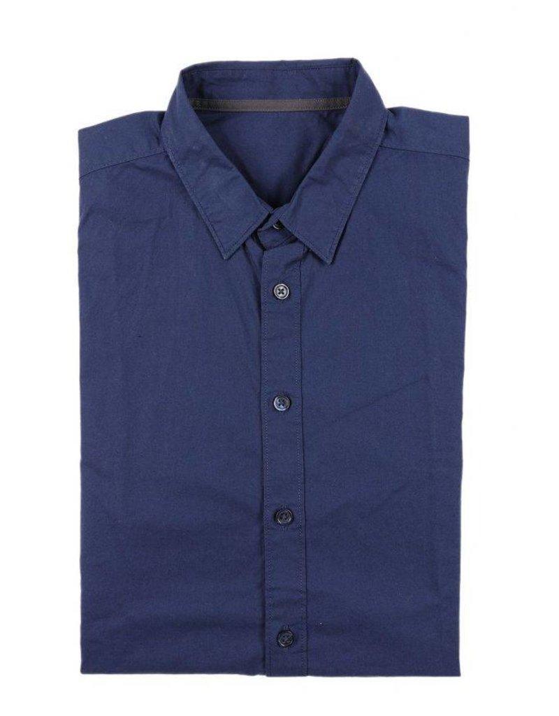 BETTER.. Clothing Navy blauw overhemd van biologisch katoen