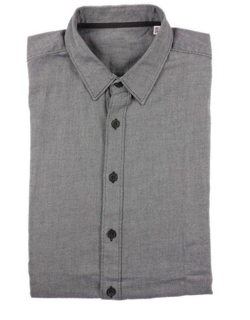 BETTER.. Clothing Grijs slimfit overhemd gemaakt van biologisch katoen
