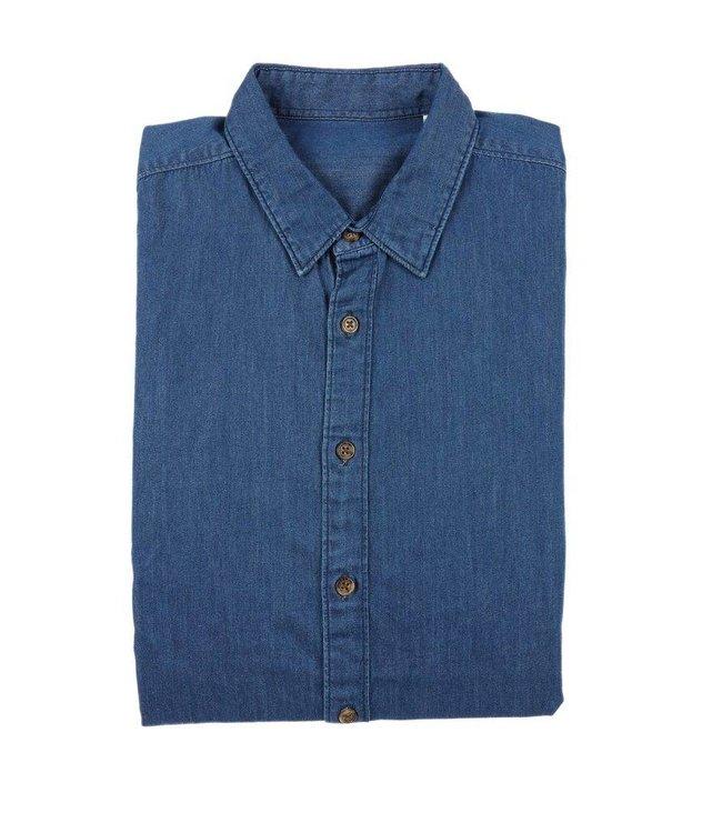 Op FairFrog: Slimfit Overhemd In Indigo Spijkerstof