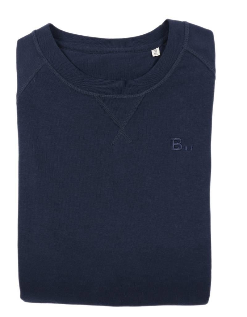 BETTER.. Clothing Pullover aus dunkelblauer Bio-Baumwolle