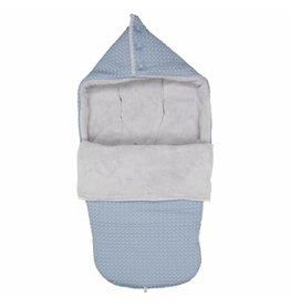 Koeka Buggy Voetenzak Wafel Teddy Soft Blue - laatste item!