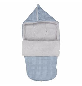 Koeka Buggy Voetenzak Wafel Teddy Soft Blue