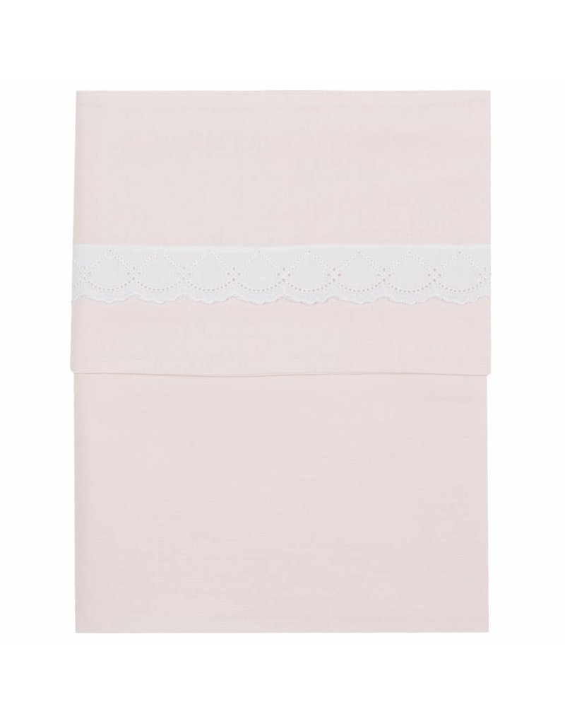 Koeka Laken Ledikant Lace Tape Water Pink/White