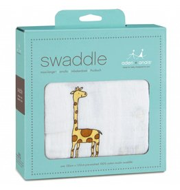 Aden + Anais Single Swaddle Jungle Jam Giraffe