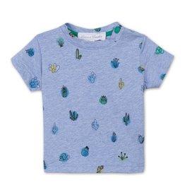 Tartine et Chocolat Blauw t-shirt met cactussen - maat 60 laatst item!