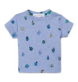 Tartine et Chocolat Blauw t-shirt met cactussen