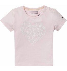 """Tommy Hilfiger Roze T-shirt """"Tommy Hilfiger Girls"""" - mt 56 laatste item!"""