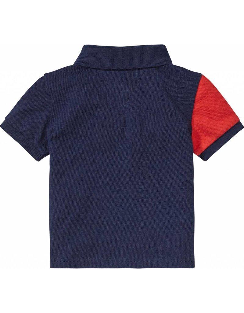 Tommy Hilfiger Rood-Wit-Blauwe polo met korte mouwen