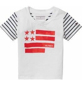 Tommy Hilfiger T-shirt met vlaggenprint en streepdessin