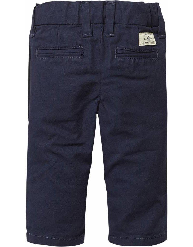 Donkerblauwe pantalon regular fit