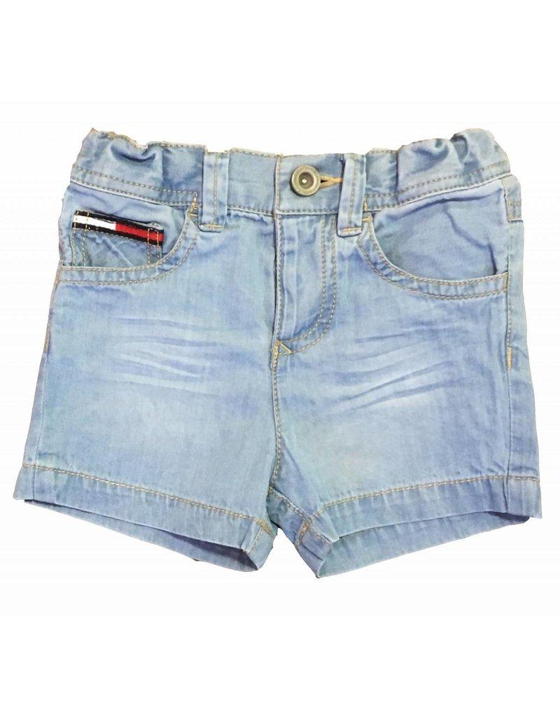 Tommy Hilfiger Blauwe korte broek voor jongens - maat 62 laatste item!