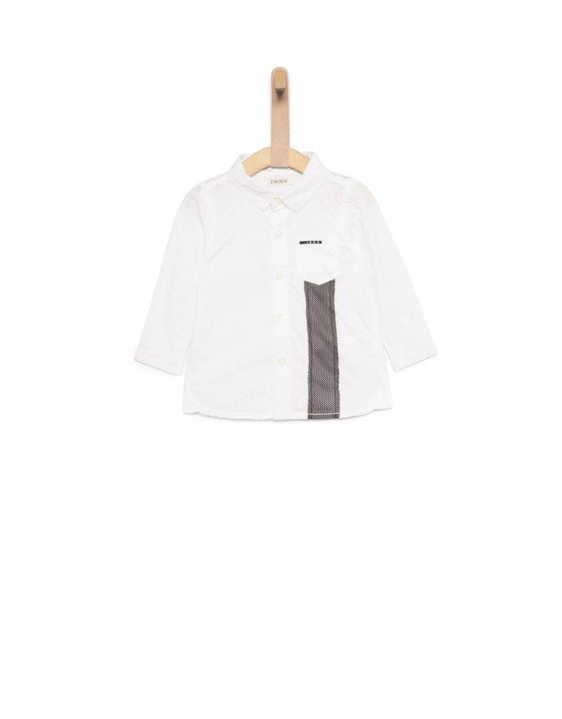 IKKS Wit overhemd met tennisrackets print op rug