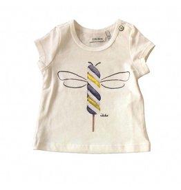 IKKS Wit t-shirt met bij en glitters - mt 60 laatste item!