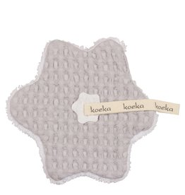 Koeka Speendoekje Wafel Teddy Silver Grey/White