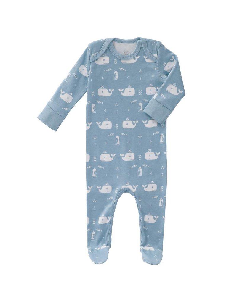 Fresk Pyjama Whale Blue Fog met voet
