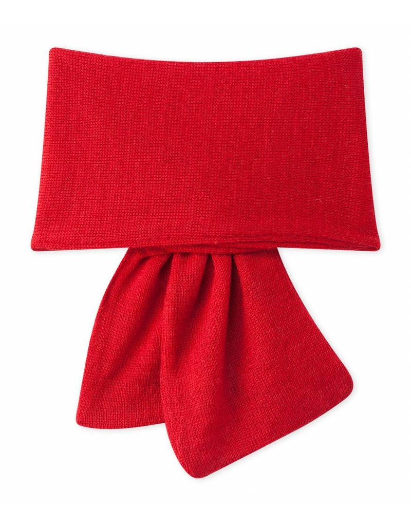 Petit Bateau Rode sjaal met berensnoet 3-6mnd