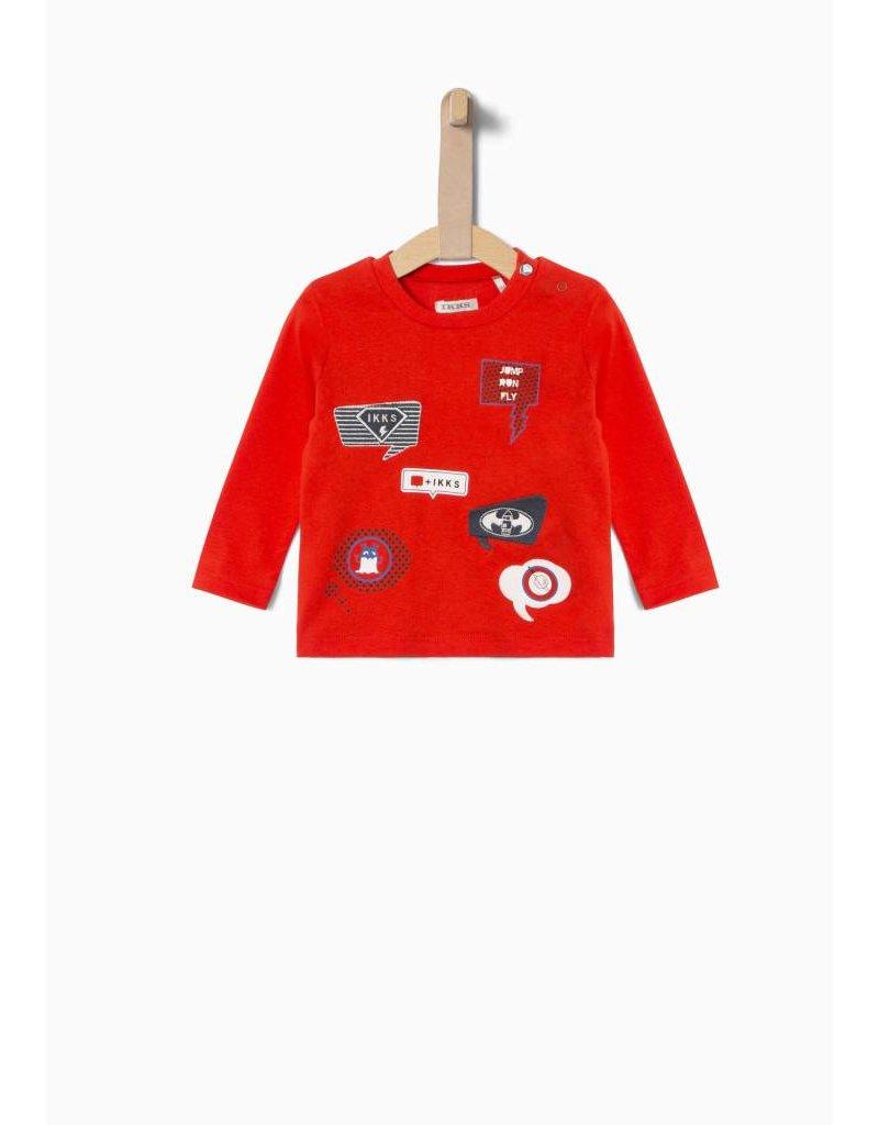 IKKS Rode longsleeve met patches-maat 86 laatste item!