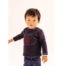 IKKS Donkerblauw en gestreept reversible superhero trui