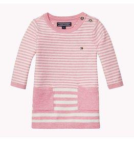 Tommy Hilfiger Roze/wit gestreepte jurk