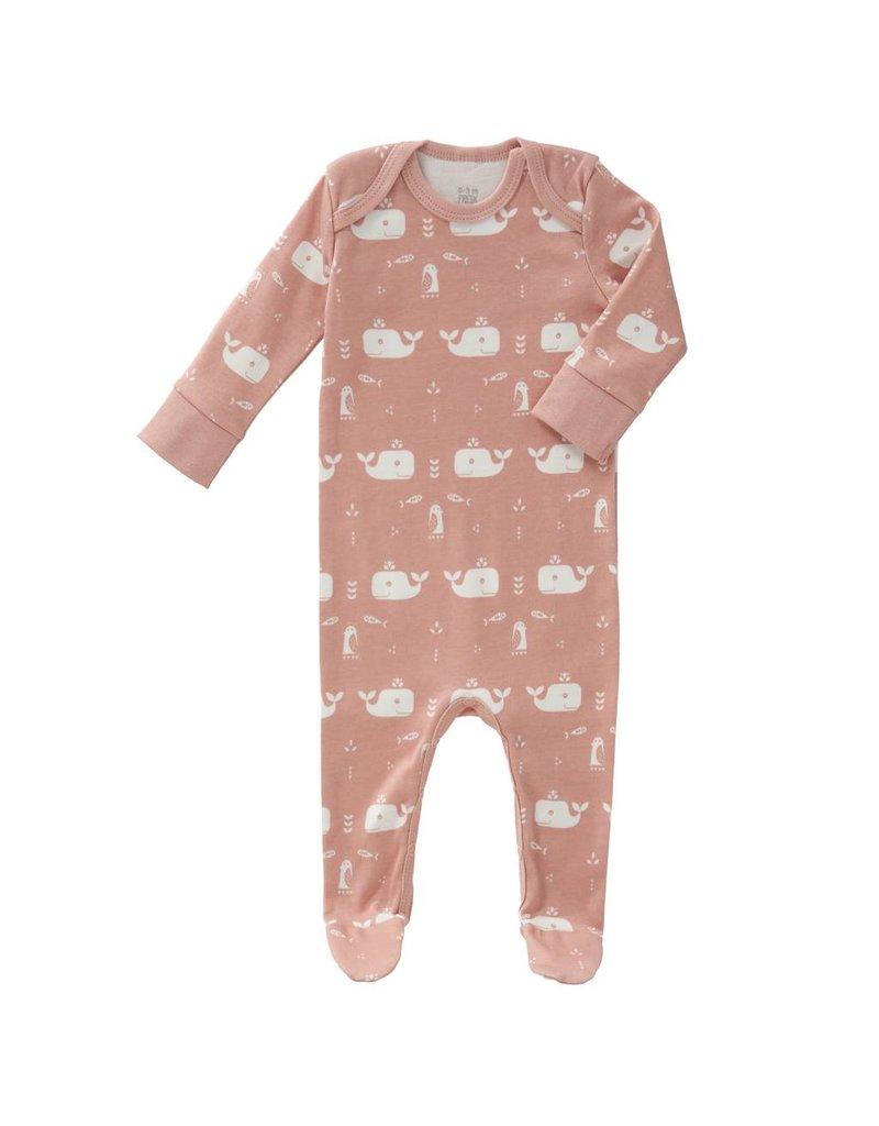 Fresk Pyjama Whale Mellow Rose met voet
