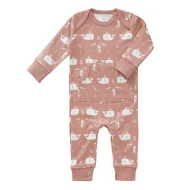 Fresk Pyjama Whale Mellow Rose zonder voet - 6-12mnd mt laatste item!