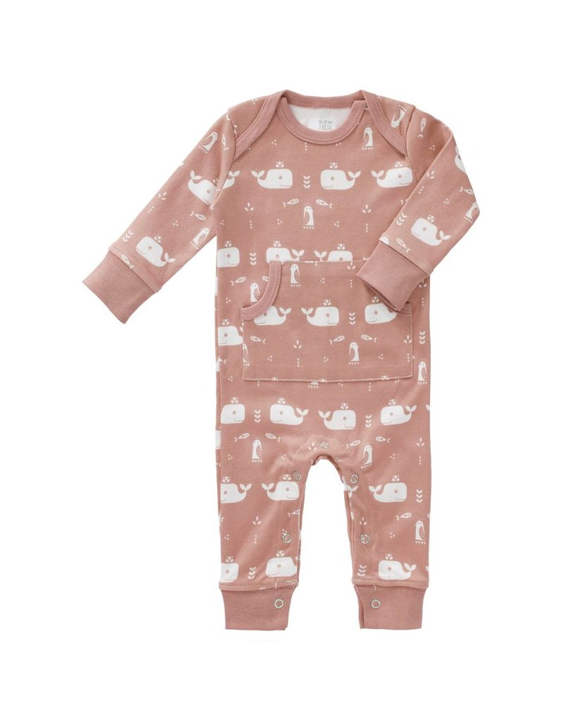 Fresk Pyjama Whale Mellow Rose zonder voet- 6-12mnd mt laatste item!
