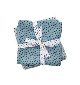 Done by Deer 2-pack hydrofiele doeken 70x70cm Happy dots blue