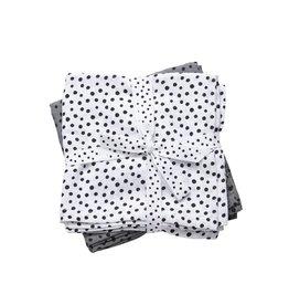 Done by Deer 2-pack hydrofiele doeken 70x70cm Happy dots grey