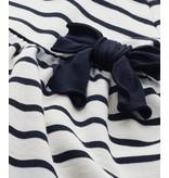 Petit Bateau Jurkje korte mouw donkerblauw-wit gestreept