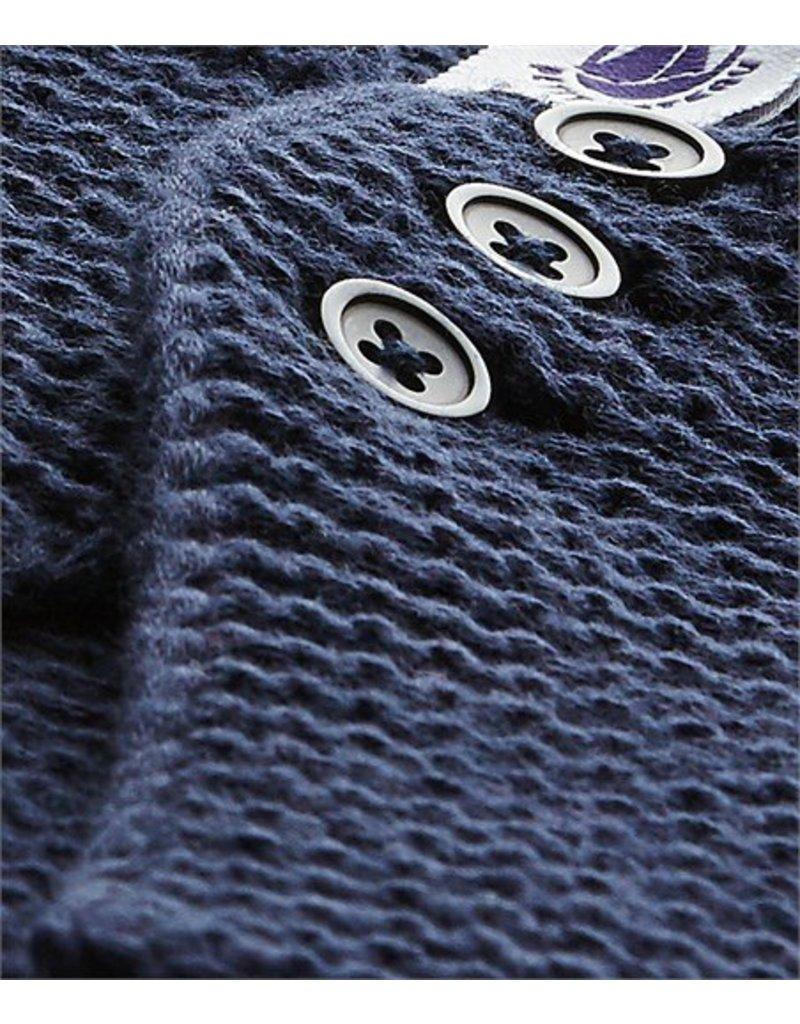 Petit Bateau Vest gebreid blauw