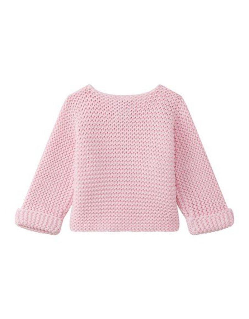 Petit Bateau Vest gebreid roze