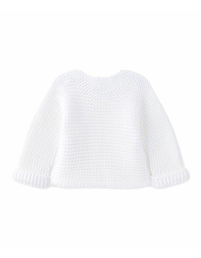 Petit Bateau Vest gebreid wit