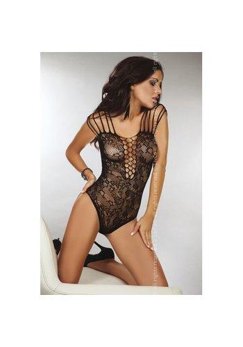 Livia Corsetti Fashion Zwart kanten body