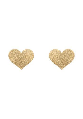 Bijoux Indiscrets Flash Heart Tepelstickers - Goud