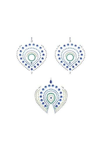 Bijoux Indiscrets Flamboyant Body Stickers - Groen/Blauw
