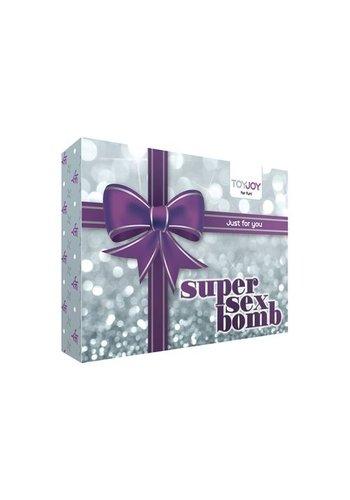 Toyjoy Super Sex Bomb Vibrator Cadeauset - Paars