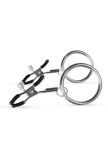 Easytoys Fetish Collection Verstelbare Tepelklemmen Met Grote Ringen
