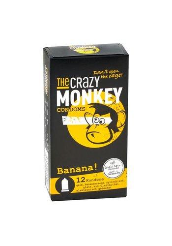 The Crazy Monkey TCMC Banana! Condooms - 12 stuks