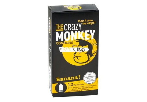 The Crazy Monkey TCMC Banana! Condooms - 12 stuks